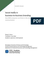 Social Media in B2B Branding-HaakonJensenNTNU2010[1]