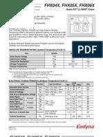 Datasheet FHX04X