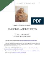 Ciceron Marco Tulio - El Orador - A Marco Bruto Bilingue