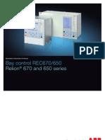 1mrk511226-Sen e en Bay Control Rec670 650