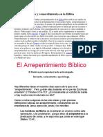 Arrepentimiento y Remordimiento en La Biblia