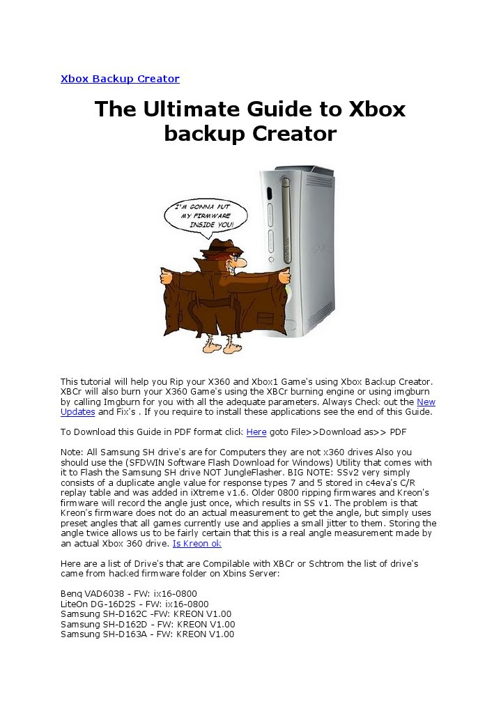 download xbox backup creator windows 7