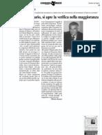 Assessore rio Verifica Di Maggioranza - Corriere Ar 13.05.11