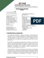 Organizacion y Metodos - Alas Peruanas