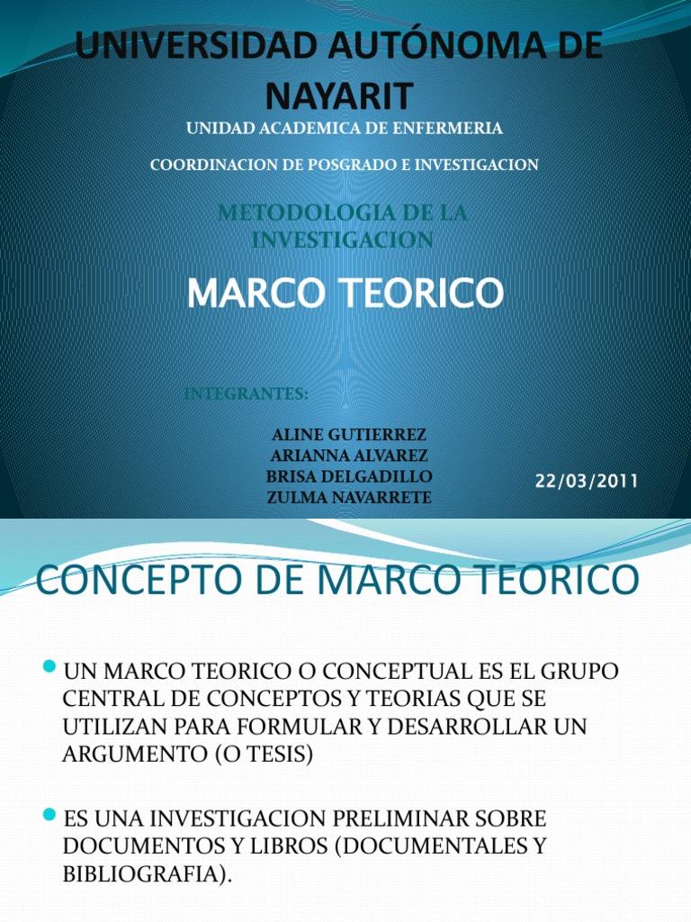 Diapositivas Marco Teorico