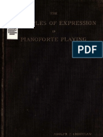 The Principles of Expression in Pianoforte Playing (Adolph Chris Ti Ani)