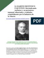 EL PLASMA MARINO ISOTÓNICO DE RENÉ QUINTON