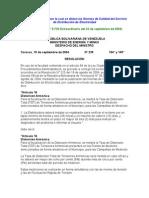 Normas de Calidad del Servicio de Distribución de Electricidad Resolucion 235 Gaceta Oficial 5.730 de 2004