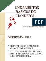 FUNDAMENTOS BÁSICOS DO HANDEBOL