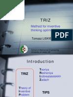 liskiewicz - triz method for inventive thinking optimisation