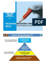 Sosialisasi Program Beasiswa Unggulan 2011