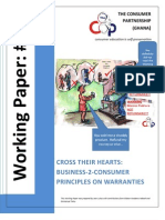 Final- Cross Their Hearts- Business-2-Consumer Principles on Warranties