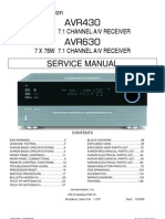 47167240 Harman Kardon Service Manual for AVR 430 and AVR 630 Receivers