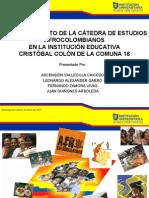 Fortalecimiento Catedra de Estudios Afrocolombianos IE Cristobal Colon
