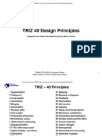 university of southampton - scanlan - triz 40 design principles -  mann