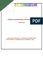 NEW Advanced Communication Laboratory Manual