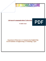 NEW Advanced Communication Laboratory Manual