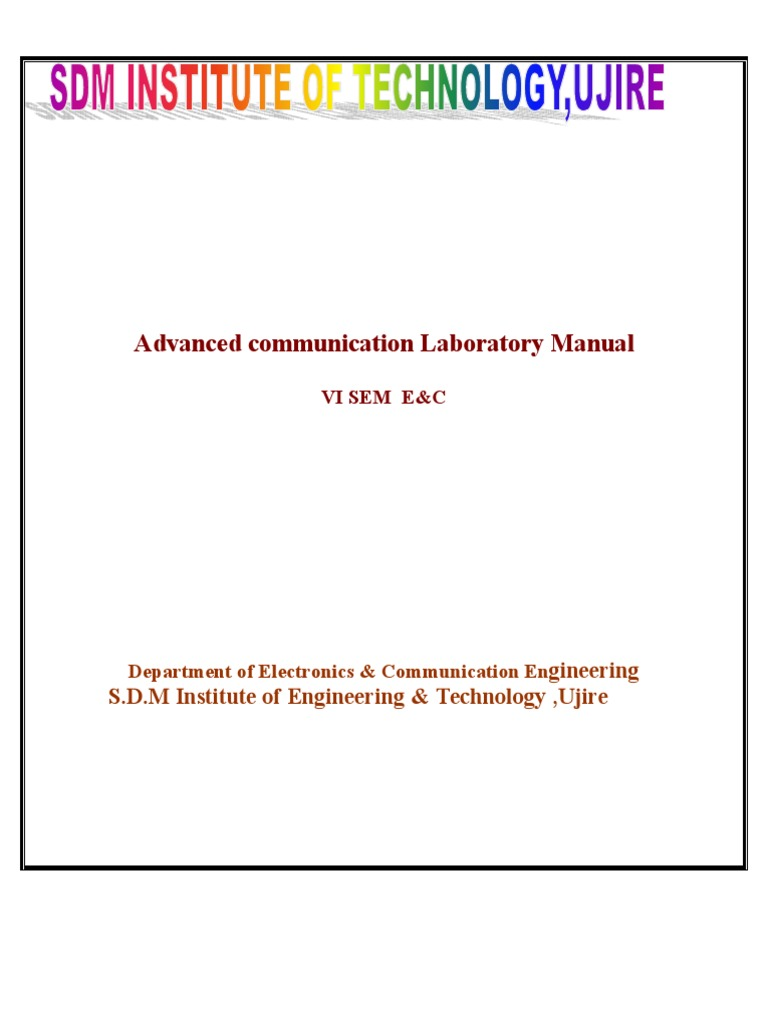 new advanced communication laboratory manual modulation antenna rh scribd com advanced communication lab manual for m tech advanced communication lab manual for m tech
