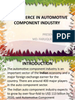 E- Commerce in Automotive Component Industry