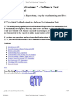 Quick Test Professional_ - Software Test Automation Tool