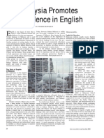Malaysia Promotes Excellence in English