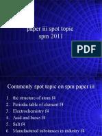 Prediction of SPM Topic Paper III General Topic 2011