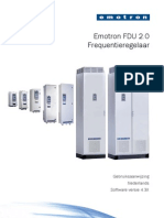 Emotron Fdu2-0 Instruction Manual 01-4428-03 r3 Dutch