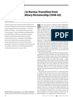 Transition from  Democracy to Military Dictatorship (1948-62)
