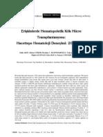 Eriflkinlerde Hematopoietik Kök Hücre