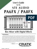 Crate PA-6 Manual