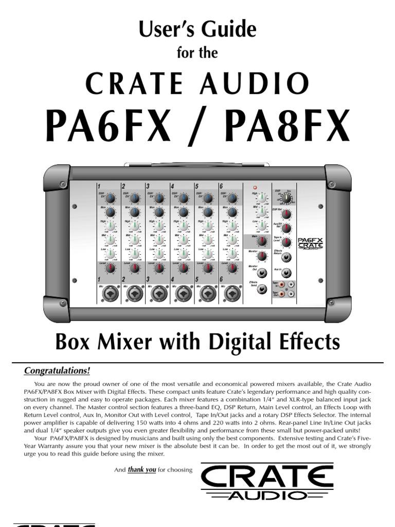 crate pa 6 manual equalization audio recording rh scribd com Museum Audio Guide Equipment Museum Audio