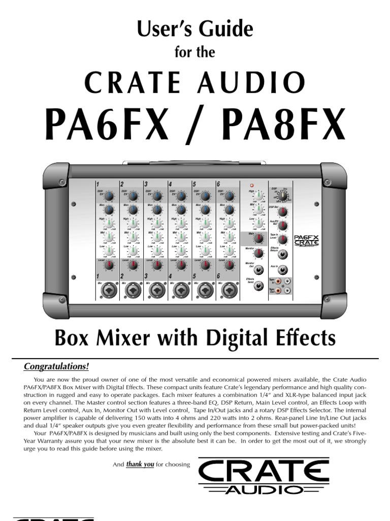 crate pa 6 manual equalization audio recording rh scribd com Audio Guide On Map Audio Guide On Map