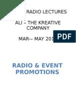 Radio & Event Promotions