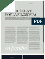 ¿Para qué sirve hoy la filosofía?