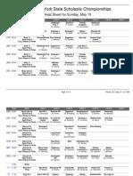 Sunday heat sheet NYSSRA 2011 championships