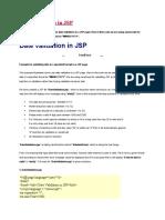 Validation in JSP