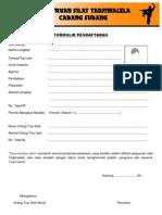 Formulir Pendaftaran Pencak Silat Tadjimalela Subang