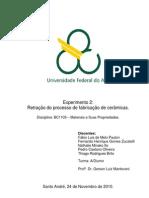 Relatório_Exp2_Retração do processo de fabricação de cerâmicas_Materiais e suas propriedades_Trim2.3