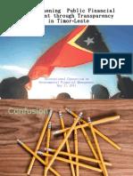 Strengthening Public Financial Management through Transparency in Timor-Leste