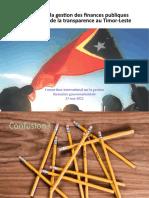 Renforcer la gestion des finances publiques par le biais de la transparence au Timor-Leste