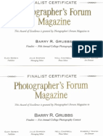 Photography Awards from Photographers Forum Magazine