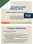 Performance Audit Adding Value