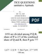 PRACTICE QUESTIONS in Quantitative Aptitude