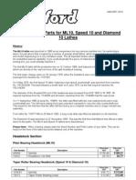 ML10, Speed 10 and Diamond 10 Spare Parts