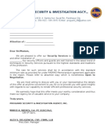 Om Services Quotation doc | Security Guard | Human Resources