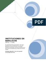 Libro Instituciones de Bariloche