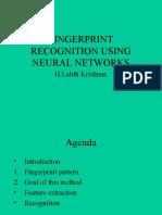 Fingerprint Recognition Using Neural Network