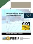 Statistical Analysis of New Orleans 1999-2006 Crash Data