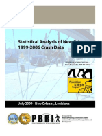 Statistical Analysis of New Orleans 1999-2006 Crash Data