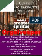 Orgelvesper Christuskirche 13.06.2011
